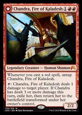 chandra fire of kaladesh magic origins visual spoiler